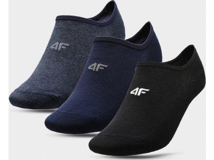 Pánské nízké ponožky 4F SOM300 Modré_černé (3páry)