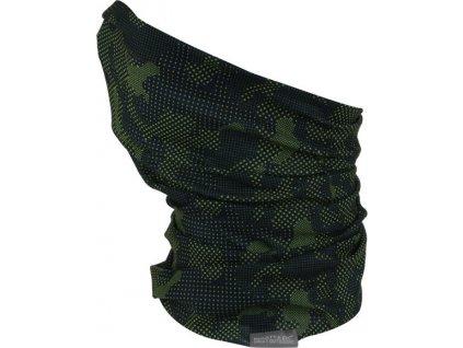 Multifunkční šátek RKC103 REGATTA K Print Multitube Černý_zelený
