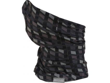 Multifunkční šátek REGATTA Multitube Printed Černý