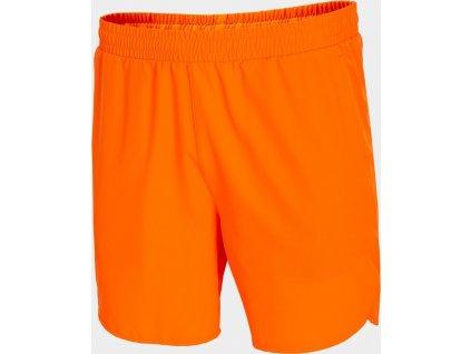 Pánské funkční šortky Outhorn SKMF600 Oranžové neon