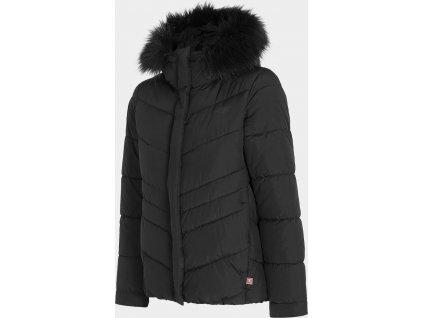 Dámska páperová bunda 4F KUDP206  Čierna