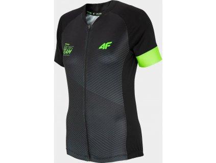 Pánske cyklistické tričko 4F RKM451 Čierne