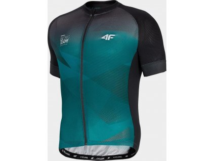 Pánske cyklistické tričko 4F RKM452 Zelené