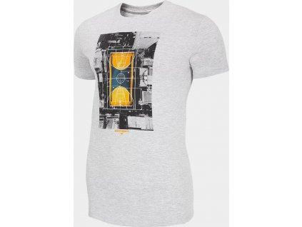 Pánske tričko 4F TSM227 Sivé