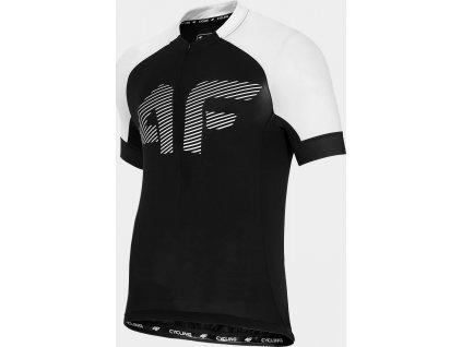 Pánske cyklistické tričko 4F RKM450 Čierne