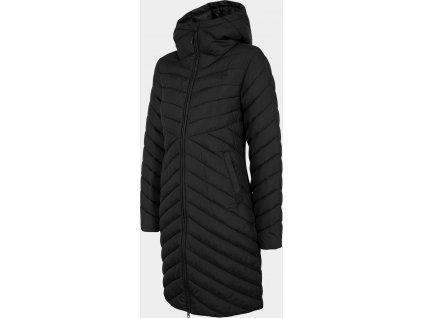 Dámsky páperový kabát 4F KUDP214 Čierny