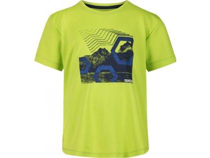 Detské tričko Regatta RKT112 Alvarado V Zelené limetkové