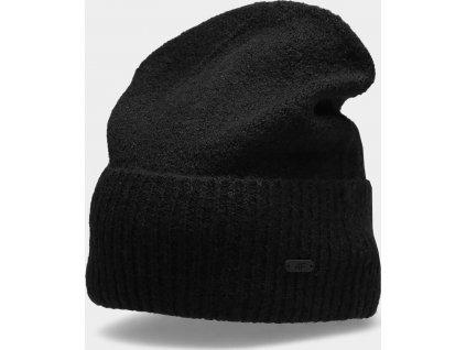 Dámska zimná čiapka 4F CAD202 Čierna