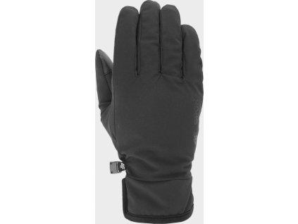 Unisex softshellové rukavice 4F REU100 černé