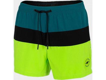 Pánske plážové šortky 4F SKMT201 Zelené