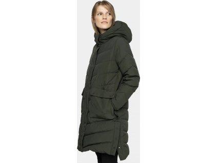 Dámsky páperový kabát 4F KUDP203 Khaki
