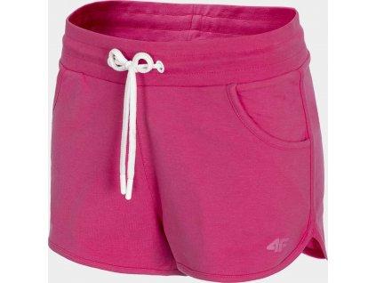 Dámske teplákové kraťasy 4F SKDD300 Ružové