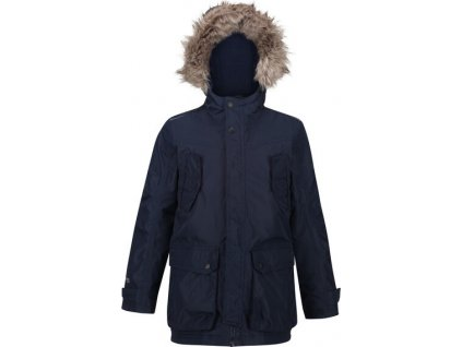 Detská zimná bunda Regatta RKP213 Pazel Parka Tmavo modrá