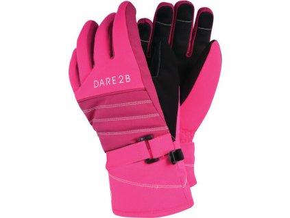 Detské lyžiarske rukavice Dare2B DGG313 Abundant Glove 887 Ružové