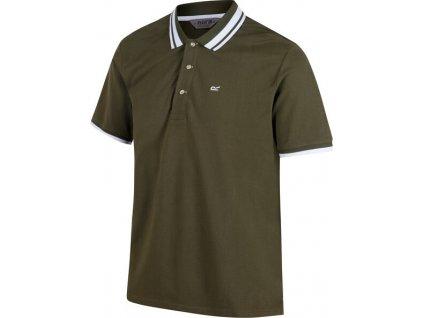 Pánske tričko polo Regatta RMT160 Talcott 5xD Khaki