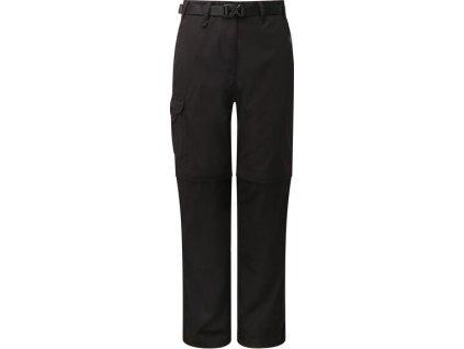 Dámske nohavice Craghoppers CWJ1039R Kiwi Convert Trs Čierna čierne
