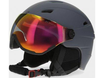 Pánska lyžiarska prilba 4F KSM151 Sivá