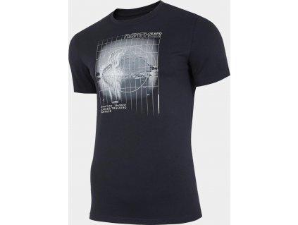 Pánske tričko 4F TSM227 Tmavomodré