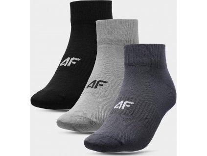 Pánske ponožky (3 páry) 4F SOM302 Sivá