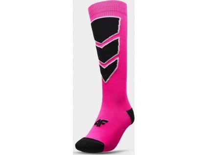Dámske lyžiarske ponožky 4F SODN300 Ružové