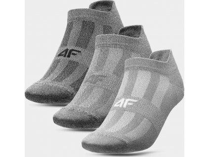 Pánske športové ponožky (3 páry) 4F SOM213 Sivé...