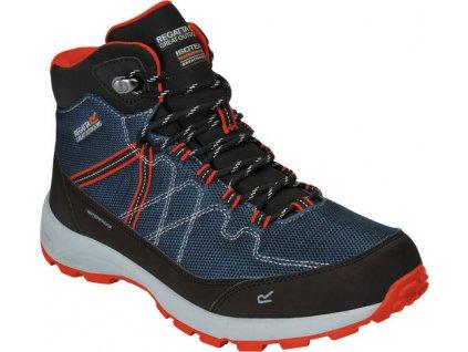 Pánske trekové topánky Samaris Lite tmavomodré a oranžové ZV8