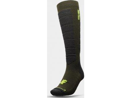 Pánske lyžiarske ponožky 4F SOMN201 Khaki