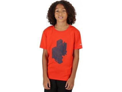 Detské tričko Regatta RKT112 Alvarado V 0EJ oranžovej