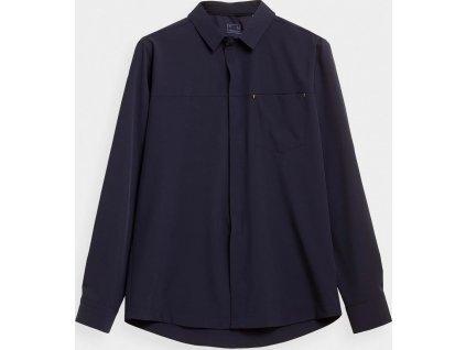 Pánska outdoorová košeľa 4F KDM060 Tmavo modrá