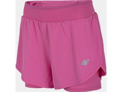 Dámske bežecké kraťasy 4F SKDF010 ružové