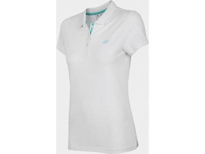 Damska koszulka polo 4F TSD007 biała