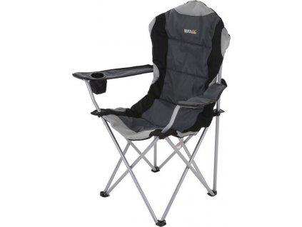 Kempingové kreslo Regatta RCE036 Kruza Chair Black / Sealgr