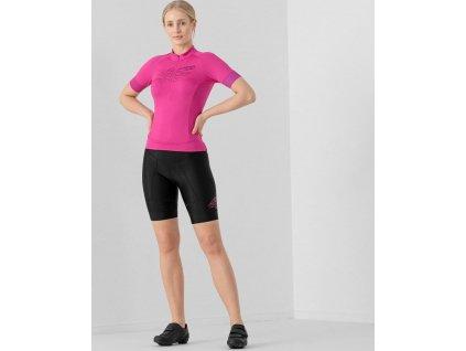 Dámsky cyklistický dres 4F RKD001 ružový