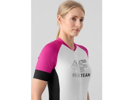 Dámsky cyklistický dres 4F RKD002 ružový