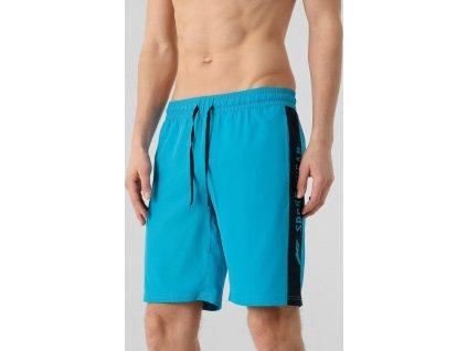 Pánske plážové šortky 4F SKMT005 tyrkysové