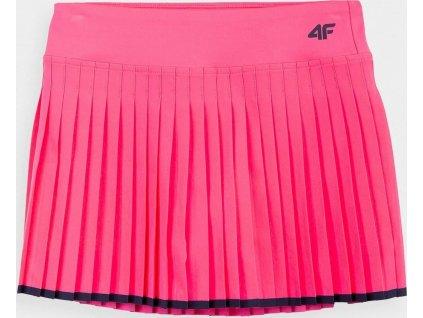 Dievčenská sukne 4F JSPUD002 koral neon