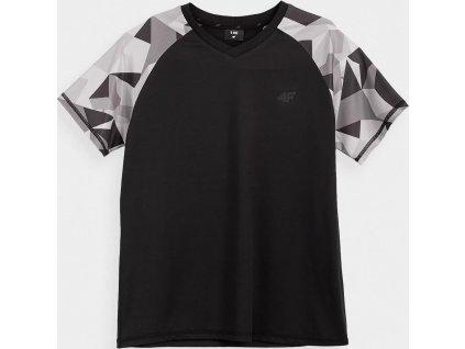 Chlapčenské funkčné tričko 4F JTSM014A čierne
