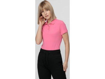 Dámske polo tričko 4F TSD404 Ružové