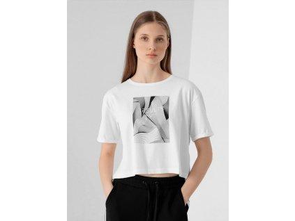 Dámské tričko 4F H4Z21 TSD029 Bílé