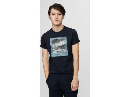 Pánske tričko 4F TSM028 tmavo modré