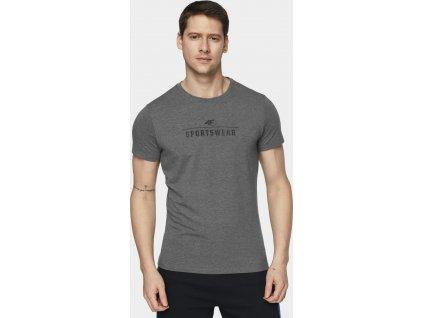 Pánske tričko 4F TSM005 Sivé
