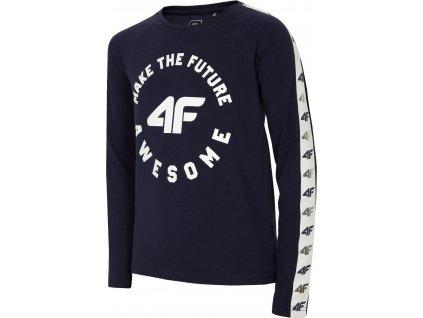 Dievčenské tričko 4F JTSDL206 Tmavomodré