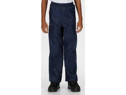 Detské nohavice do dažďa Regatta Pack It Overtrousers Tmavomodré