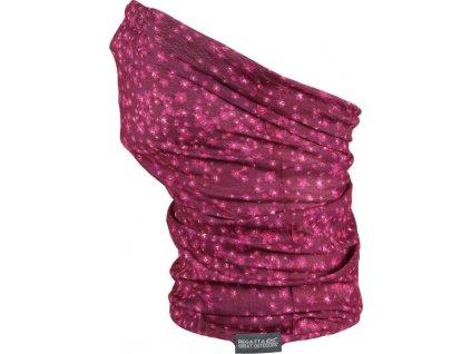 Detský nákrčník Regatta RKC103 K Print Multitube M9I Ružový