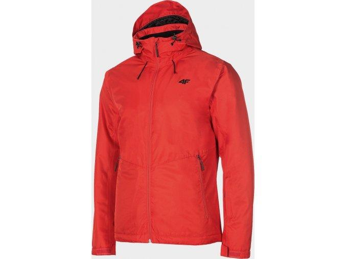 Pánska lyžiarska bunda 4F KUMN001 Červená