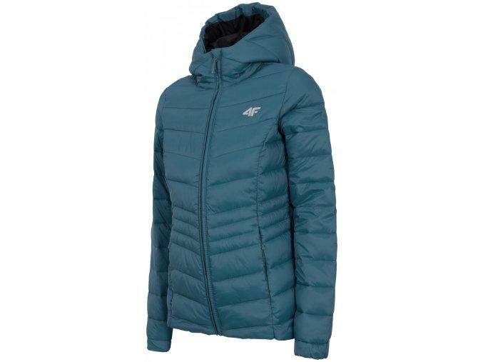 Dámska páperová bunda 4F KUDP301 Modrá kobalt