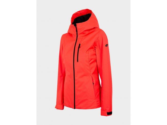 Dámská outdoorová bunda 4F KUD301 Červená neon