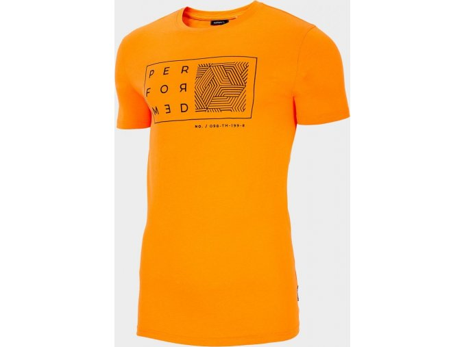 Pánské tričko Outhorn TSM607 Oranžové