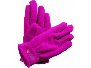 Detské zimné rukavice Regatta RKG024 TAZ GLOVES II Ružová