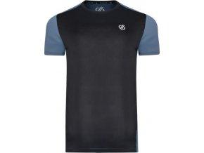 Pánske funkčné tričko DMT483 DARE2B Underlie Tee Čierne/Sivé